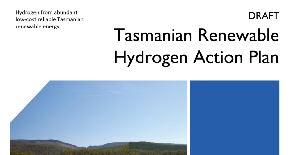 Tasmania outlines commitment to renewable hydrogen